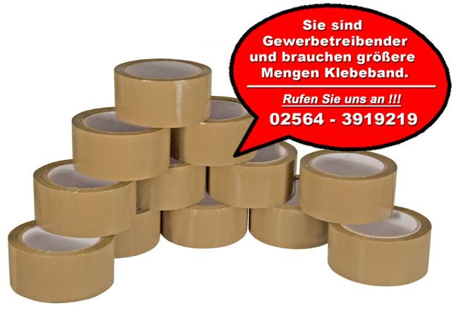 12-Rollen-Packband-Paketband-braun-66-m-super-leise-sehr-leicht-abrollend-Kleber