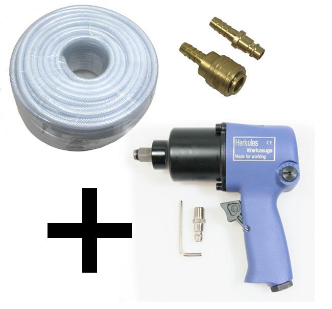 Schlagschrauber-550-NM-Druckluftschlauch-9mm-50m-Schlauch-Schnellkupplung
