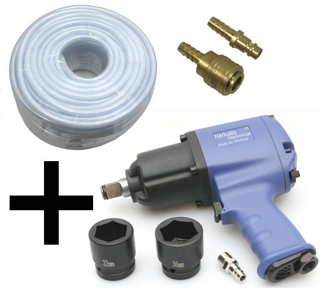 Schlagschrauber-1200-NM-Druckluftschlauch-9mm-50m-Schlauch-Schnellkupplung